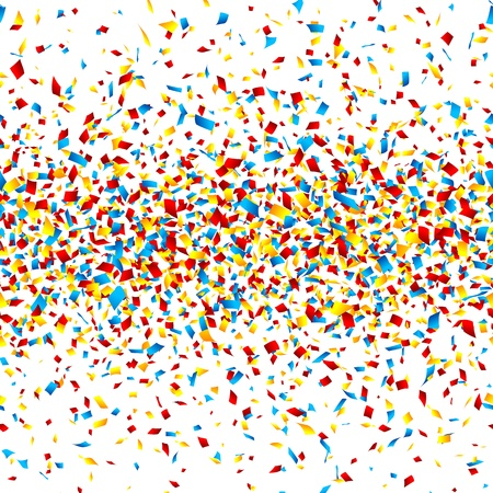 Confetti  Horizontally seamless illustration  Vector