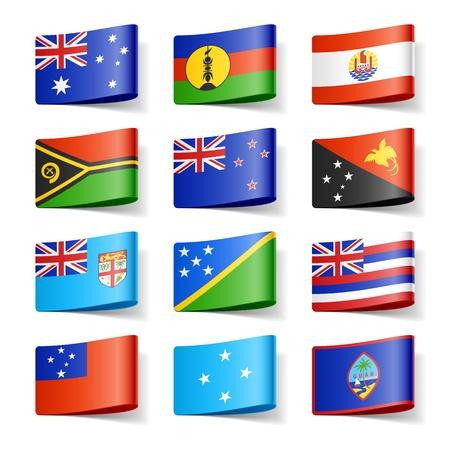 bandera de nueva zelanda: Banderas del mundo Ocean�a