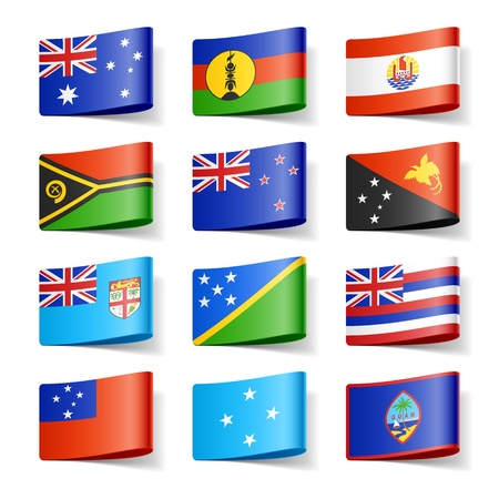 World flags  Oceania  Vector