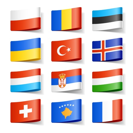 World flags  Europe  Stock Vector - 12595533