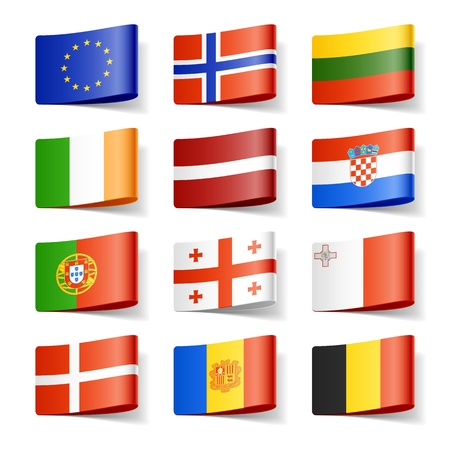 drapeau portugal: Drapeaux du monde en Europe Illustration
