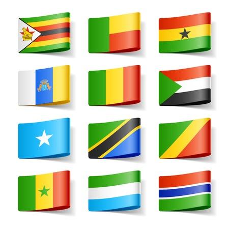 Wereld vlaggen Afrika