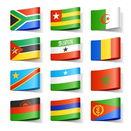 sur: Banderas del mundo Africa