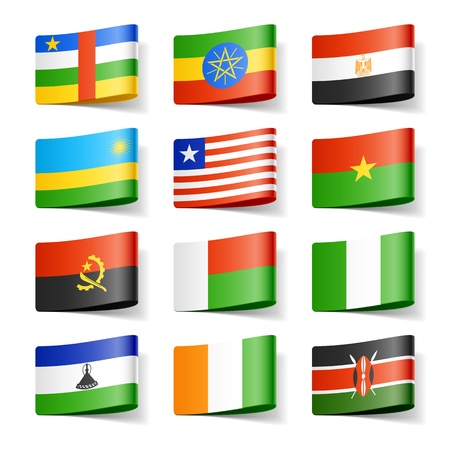 World flags  Africa  Vector