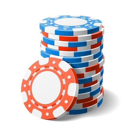wagers: Casino chips Illustration