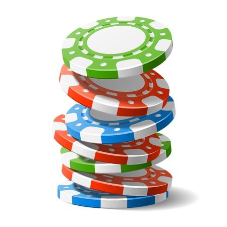 jetons poker: La baisse des jetons de casino Illustration