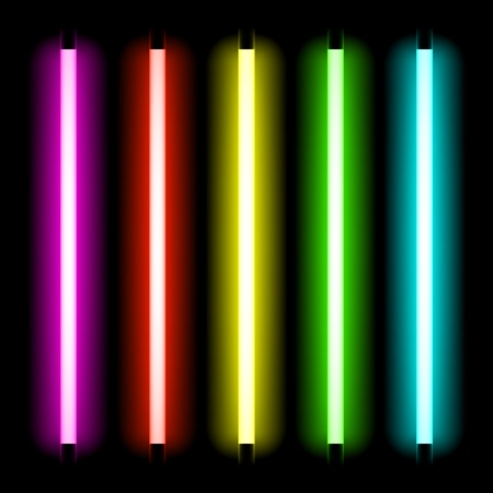 colorful light display: Neon tube light