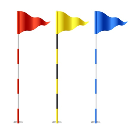 golf field: Golf flags