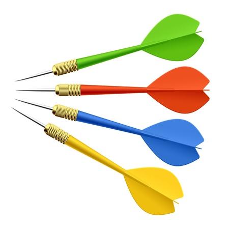 darts: Set of darts Illustration