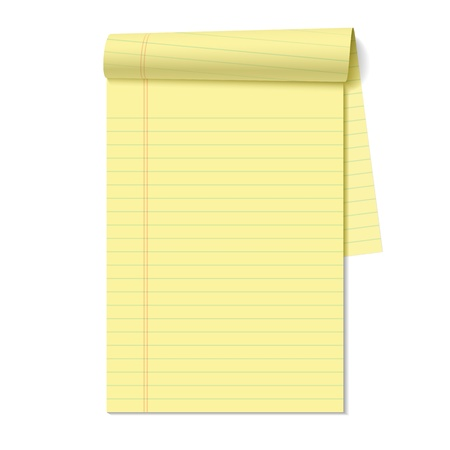 yellow note: Blank legal pad