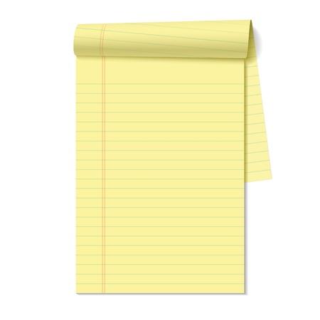 Blank Notizblock Vektorgrafik