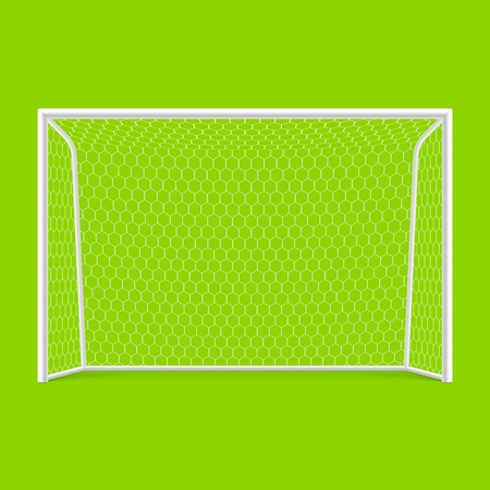 soccer pitch: Soccer goal front view Illustration