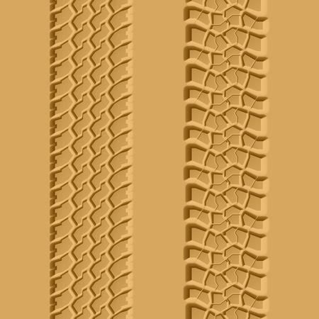 huellas de llantas: Huellas de los neum�ticos ilustraci�n perfecta