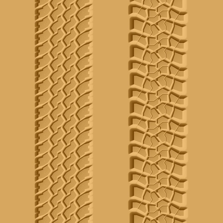Tire tracks seamless illustration Vector