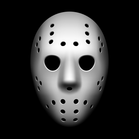 hockey goal: Hockey mask Illustration