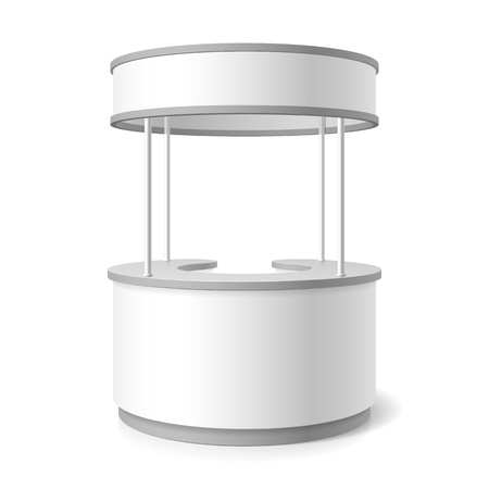 display stand: Reception counter Illustration