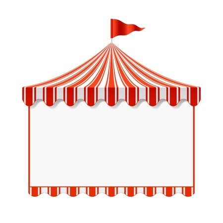 amusement: Circus advertisement background Illustration