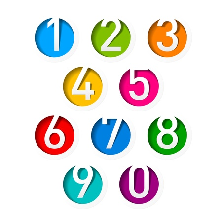 number icons: Numbers set
