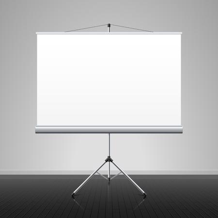 whiteboard: Projectiescherm Stock Illustratie
