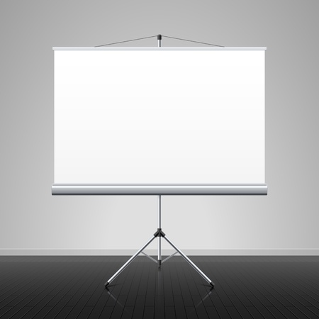 Projection screen Stock Vector - 14223237