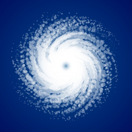 Hurricane - view from space Stock Vector - 14223241