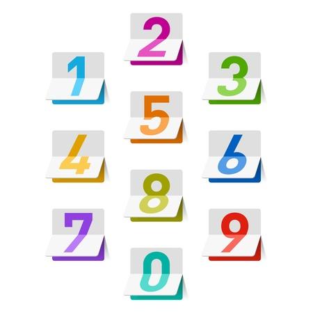Numbers set Stock Vector - 14223242
