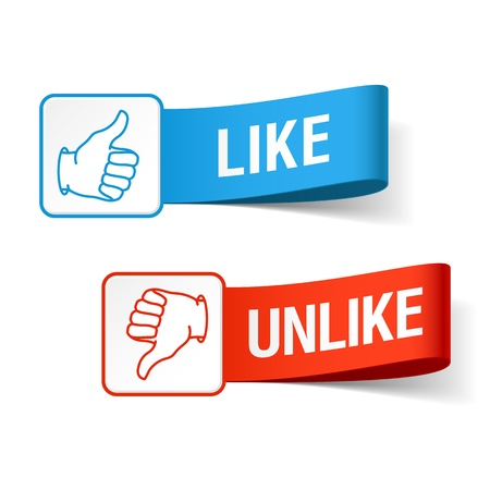 like button: Like and unlike symbols