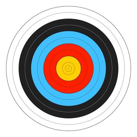 Archery Target Stock Vector - 14409517