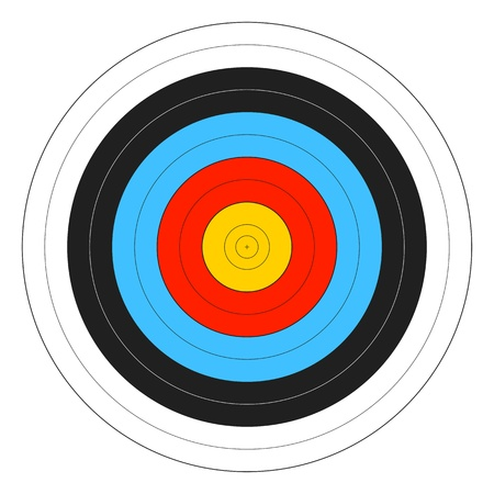 photo regarding Printable Archery Targets named Printable Archery Concentrate Historical past. Royalty Cost-free Cliparts