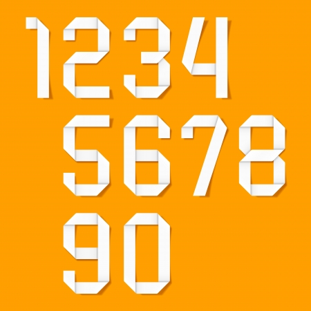 Origami numbers set Stock Vector - 14441796