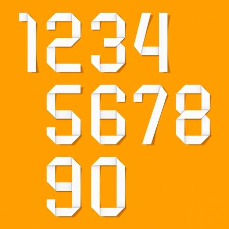 számok: Origami számok beállítása Illusztráció