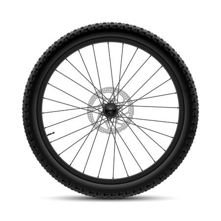 huellas de neumaticos: Rueda de bicicleta Vectores