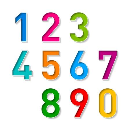 Nummers in te stellen Vector Illustratie