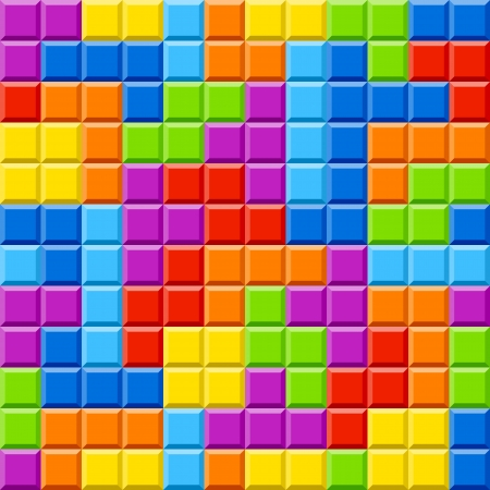 tetris: Seamless color blocks background