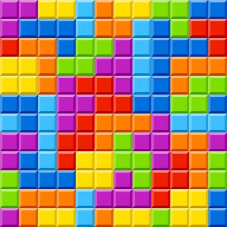 tetris: Seamless color blocks background