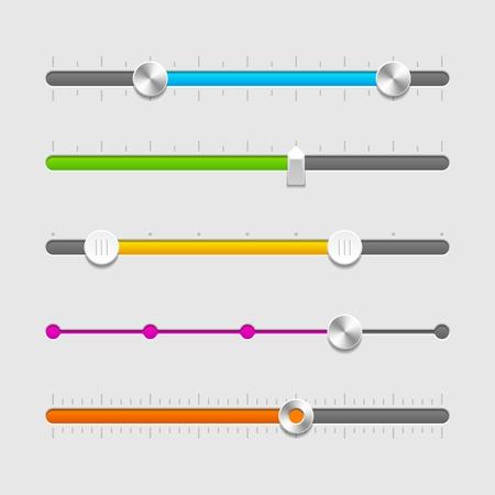 kippschalter: UI Schieberegler eingestellt Illustration