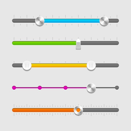 progress: UI sliders set