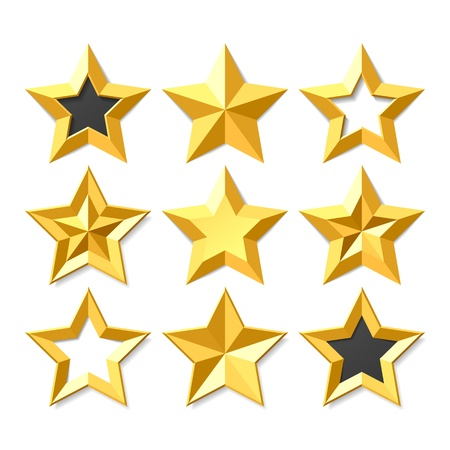 star shapes: Gold stars set