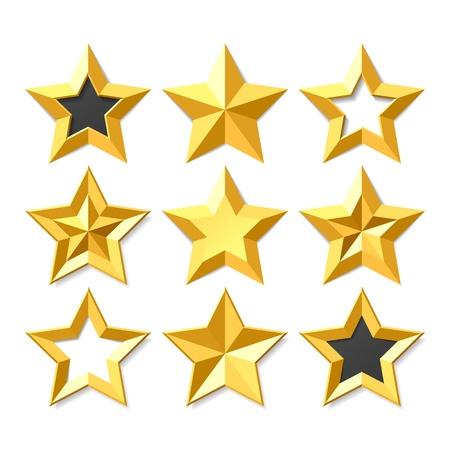 stars: Gold stars set