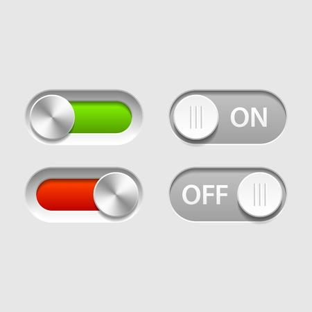 boton on off: En deslizadores Off Vectores
