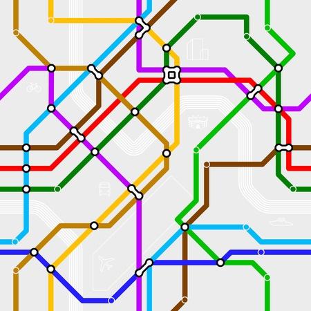 estación del metro: Sistema de metro sin fisuras