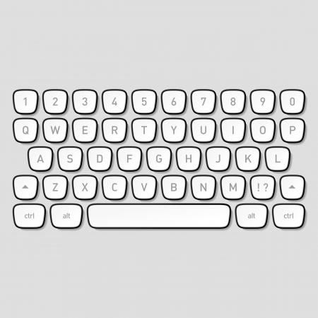 keyboard: Tasten auf der Tastatur Illustration