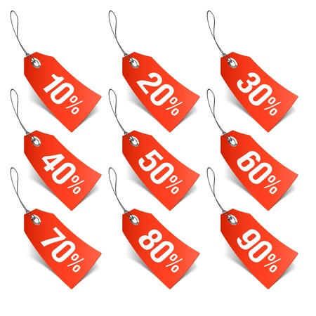 price: Sale tags Illustration