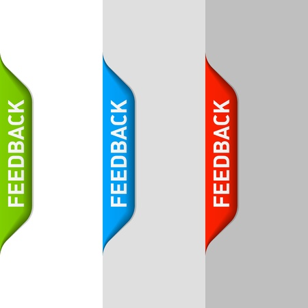 back button: Feedback element