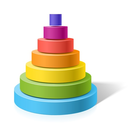 cylinder: Layered pyramid Illustration