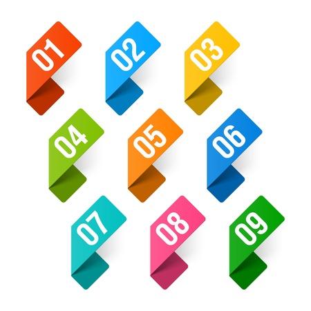 five objects: Numeri impostare