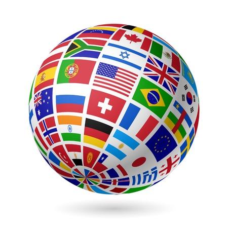 drapeau portugal: Monde Drapeaux Illustration