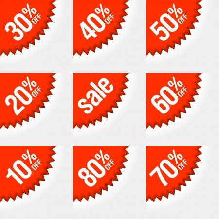 Discount labels Stock Vector - 15158409