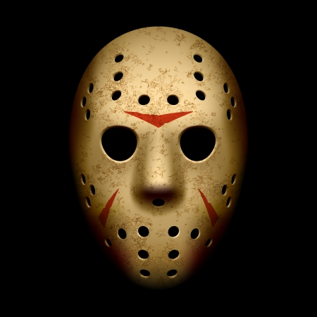 Scary hockey mask Vector