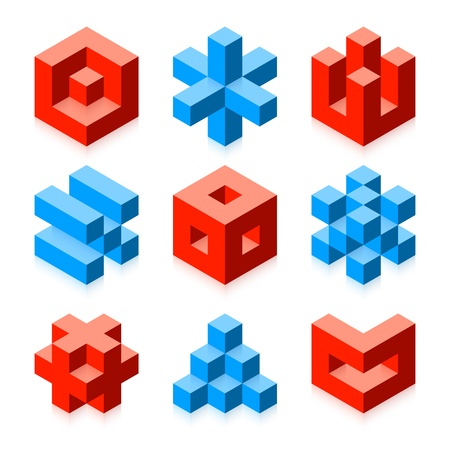 Cubic objects Stock Vector - 15222207